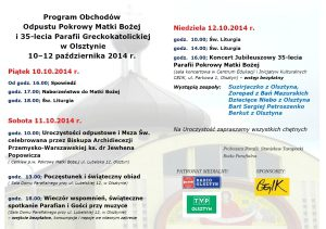 Program Odpustu 10-12.10.2014 r.